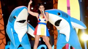 Recording artist Katy Perry performs onstage during the Pepsi Super Bowl XLIX Halftime Show at University of Phoenix Stadium on February 1, 2015 in Glendale, Arizona. *** Local Caption *** Katy Perry