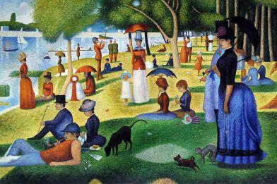 Pintura-moderna-domingo-por-La-tarde-en-La-isla-de-La-Grande-Jatte-de-George-Seurat